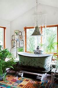 36 Bright Bohemian Bathroom Design Ideas DigsDigs