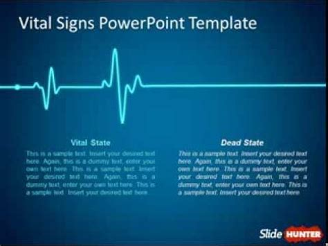 animated powerpoint template  vital signs youtube