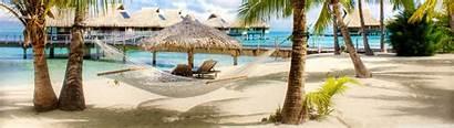 Dual Beach Tropical Resort 4k Screen Monitor