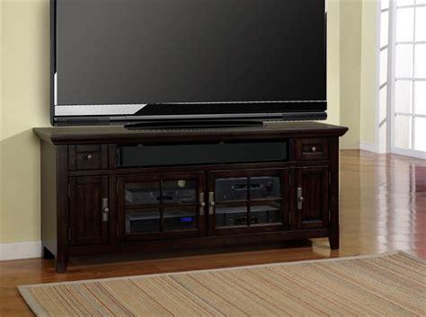 tahoe   tv console  vintage black burnished finish