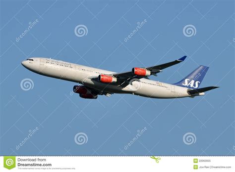 sas scandinavian airlines boeing 737 600 editorial photo