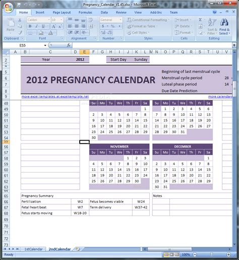 pregnany calendar pregnancy calendar download
