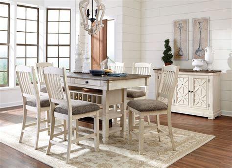 bolanburg white  gray rectangular counter height dining