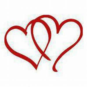 Red double hearts | Black ...white & RED! | Pinterest ...