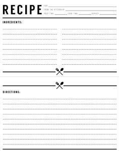 editable recipe card templates  microsoft word