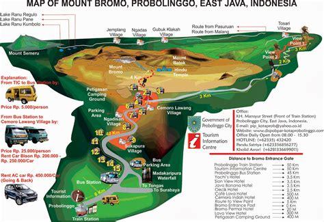 alamat lokasi  rute jalan menuju wisata gunung bromo