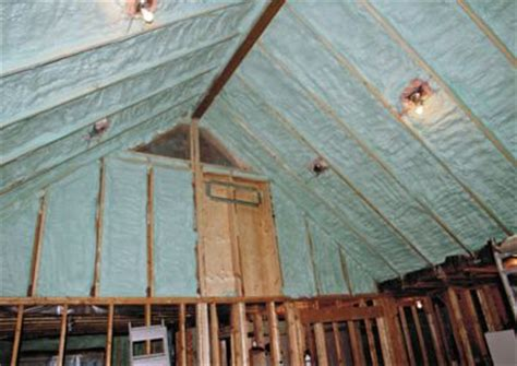 insulating cathedral ceilings with batts armour shield coatings spray foam insulation phone 705
