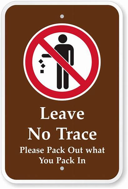Trace Sign Leave Signs Pack Park Prohibition