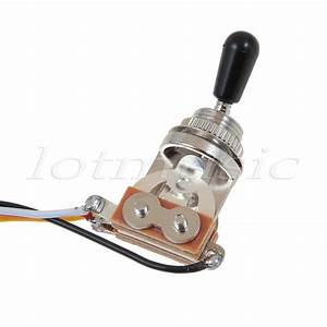Guitar Wiring Harness 2 Volume 1 Tone 500k 3 Way Toggle Switch Chrome 634458583084