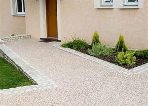 emejing allee de jardin en beton images ridgewayngcom With amenagement allee de maison