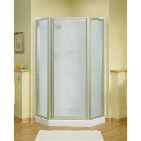 sterling shower doors sterling intrigue 27 9 16 in x 72 in neo angle shower