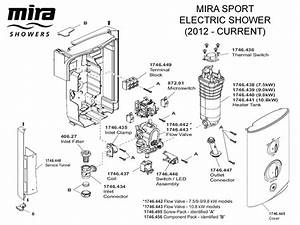 Shower Spares For Mira Sport Electric Shower 10 8kw