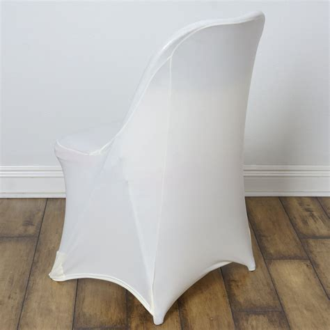 sleek spandex folding chair cover ivory efavormart