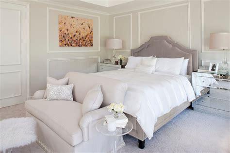 gray velvet bed transitional bedroom smith firestone
