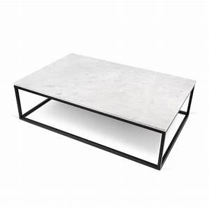 Table Basse Marbre But : temahome table basse 120cm prairie marbre blanc m tal noir ~ Teatrodelosmanantiales.com Idées de Décoration