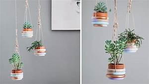 Suspension Pour Plante Interieur : d co diy 20 tutos pour cr er une suspension de plante d co ~ Teatrodelosmanantiales.com Idées de Décoration