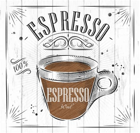 Poster coffee coffee poster cafe poster symbol decorative decoration background cafe cup advertising banner drink vector cover element template vintage beverage emblem coffee cup coffee. Poster coffee espresso in vintage style Vector | Premium Download