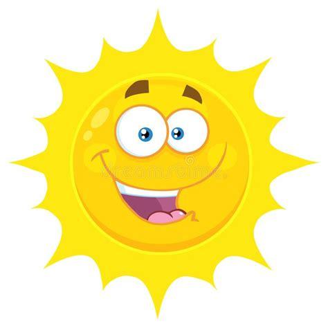 Happy bright sun character stock vector. Illustration of ...