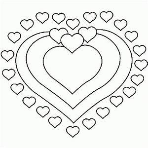 Dessin Saint Valentin : un coloriage de coeur pour la saint valentin coloriages ~ Melissatoandfro.com Idées de Décoration