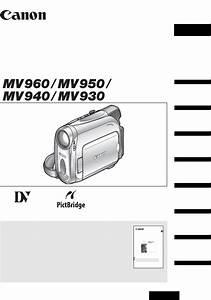 Canon Mv 950  Mv940  Mv960 Instruction Manual