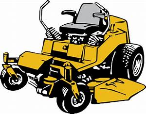 Lawn mower commercial lawn mowing clipart - Clipartix