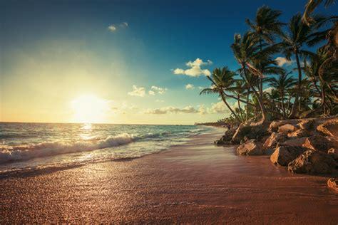 landscape  paradise tropical island beach