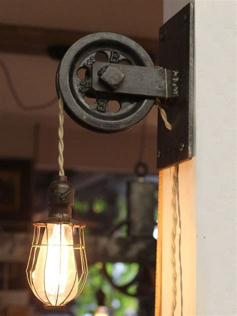 rustic farmhouse pulley pendant light id lights