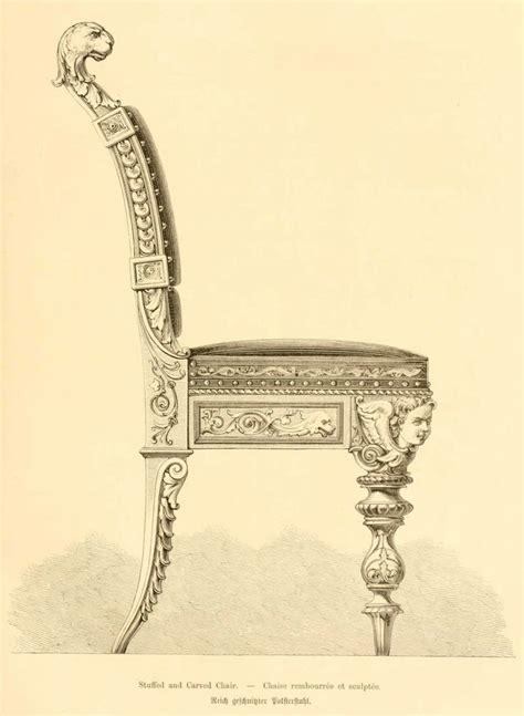 dessin chaise img dessins meubles mobilier chaise rembourree et sculptee