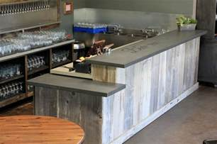 black kitchen island with stainless steel top concrete bar top craftsman basement san francisco