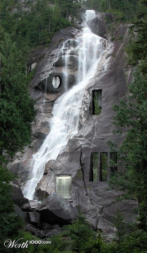 waterfalls in home waterfall house unusual homes pinterest awesome a house and rain