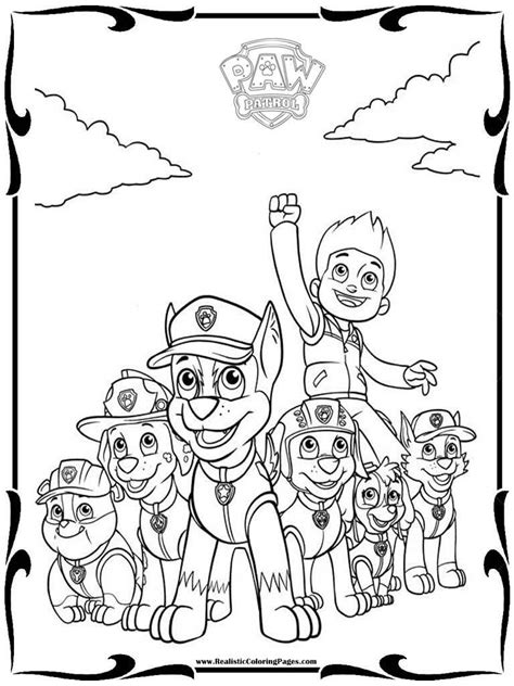 paw patrol characters coloring pages realistic coloring