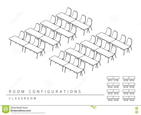style de salle de classe de configuration de disposition d installation de lieu de r 233 union