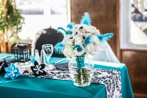 black white and turquoise fairytale wedding cruise