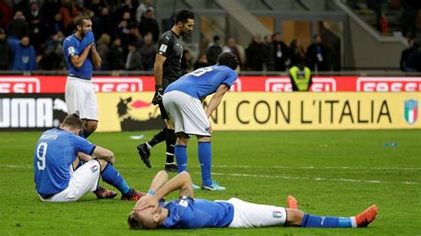 Italy Lose Sweden Play Off Won Fifa World
