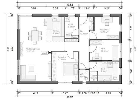 Grundrisse Für Bungalows by Bungalow M 252 Nchen 107qm 4 Zimmer Haus Grundriss Haus In