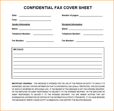confidential fax cover sheet teknoswitch