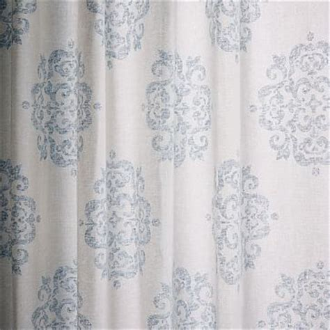Blue Medallion Curtains Walmart by Scroll Medallion Curtain Smoke Blue Westelm 49 Panel