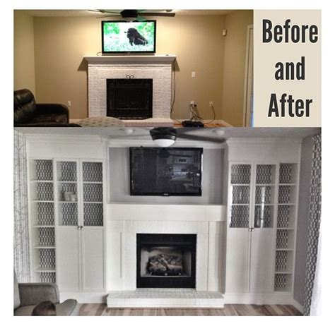 diy fireplace built ins   ikea billy bookcases