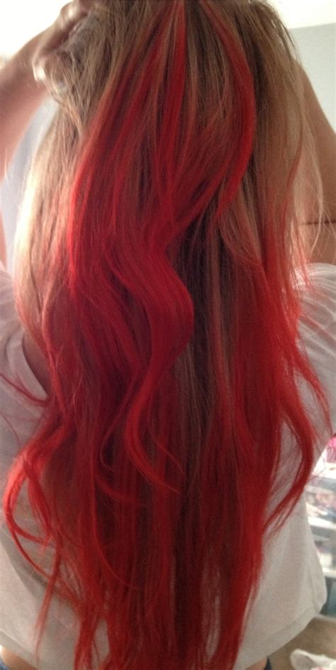 Diy Dip Dyed Hair W Red Koolaid Mix Easy And Fun To Do