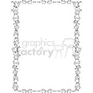 easter border clipart black and white royalty free black and white easter border 134006