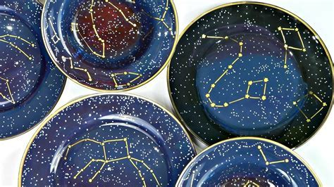 Constellation Dishes · How To Make A Plate · Decorating on