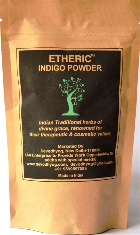 etheric indigo leaves powder temporary hair color black