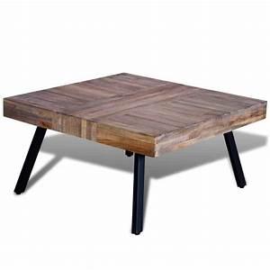 Table Basse En Solde : la boutique en ligne table basse carr e en teck recycl ~ Teatrodelosmanantiales.com Idées de Décoration