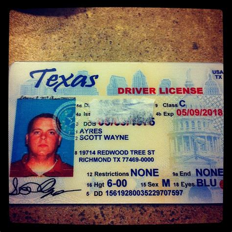 The New Texas Driver License Is So Weird Looking! Flickr