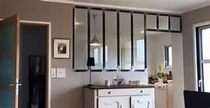 charmant cuisine avec verriere interieur 3 portes With cuisine avec verriere interieur