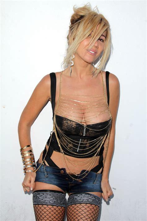 Singer Nadeea Volianova Shows Bush Top And Bottom