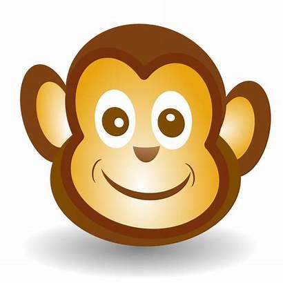 Monkey Face Clip Clipart Cartoon Funny Faces