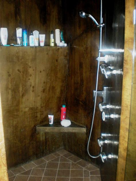 and in shower the american edge inc concrete showers bath