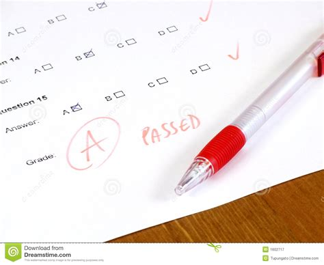 test qui test college concept royalty free stock