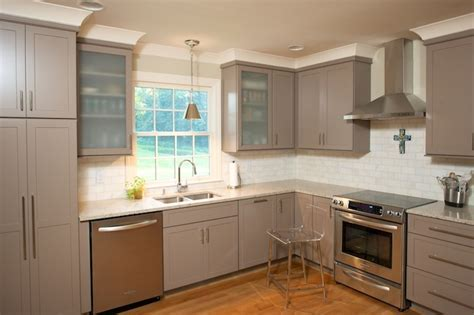 Taupe Kitchen Cabinets   Contemporary   kitchen   Twin